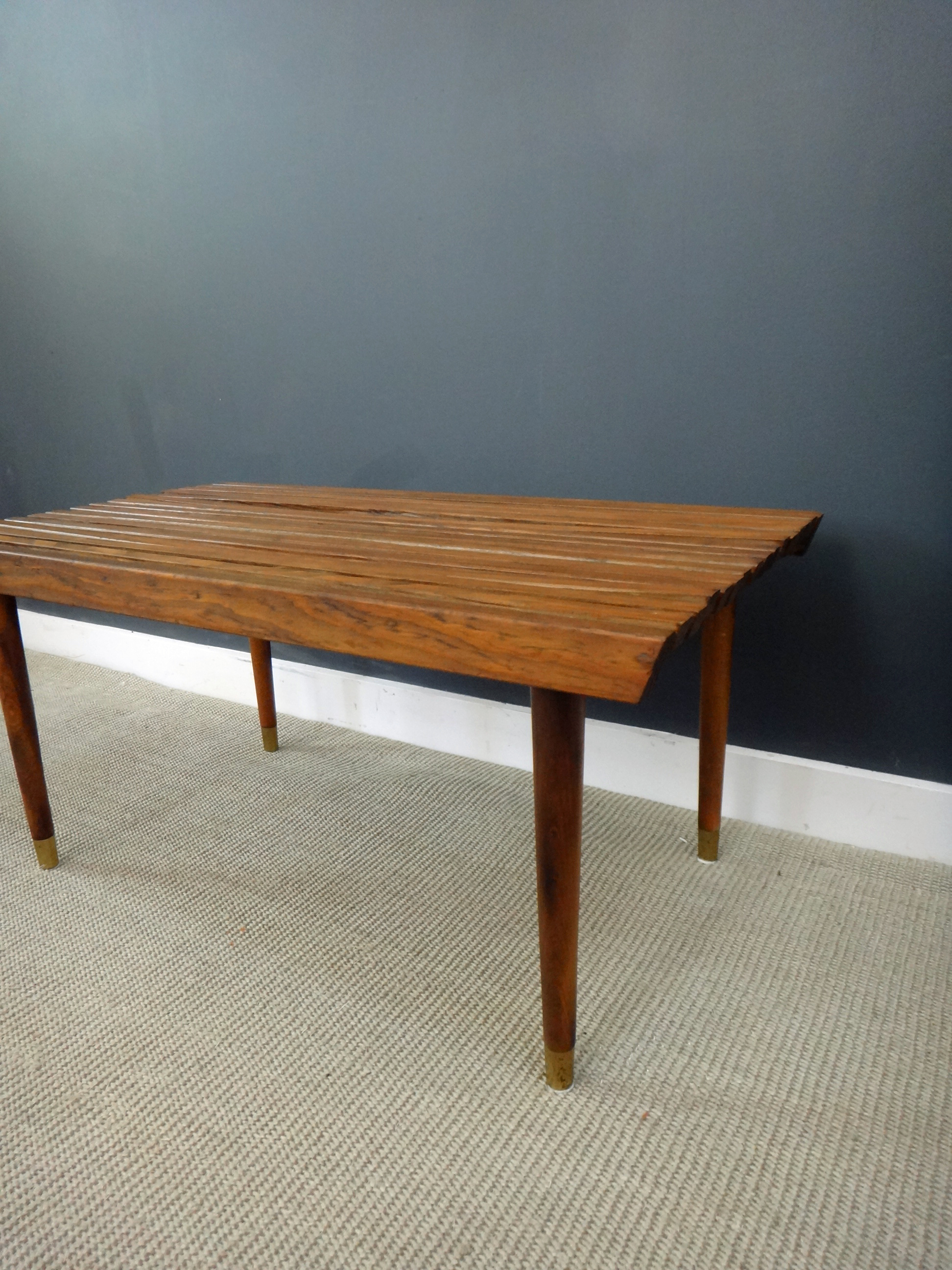 Wood Slat Coffee Table/Bench