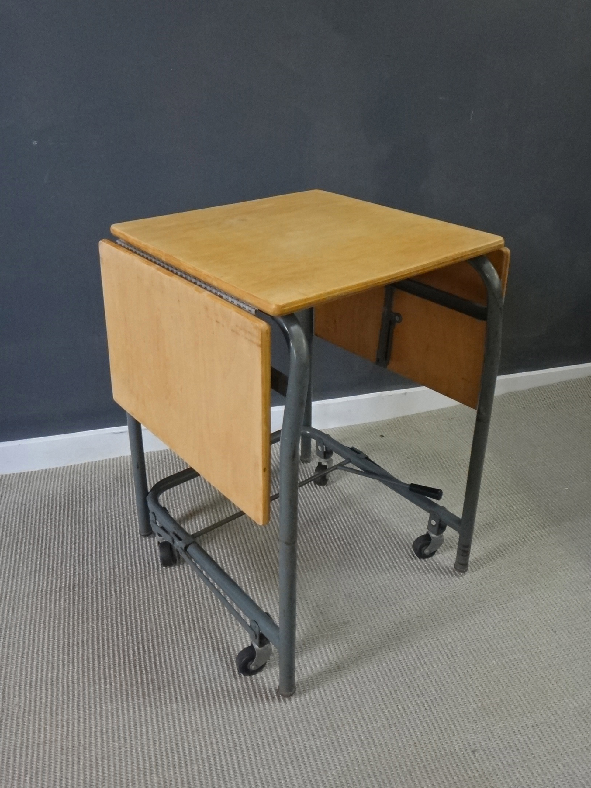 Vintage Wood & Metal Typing Stand