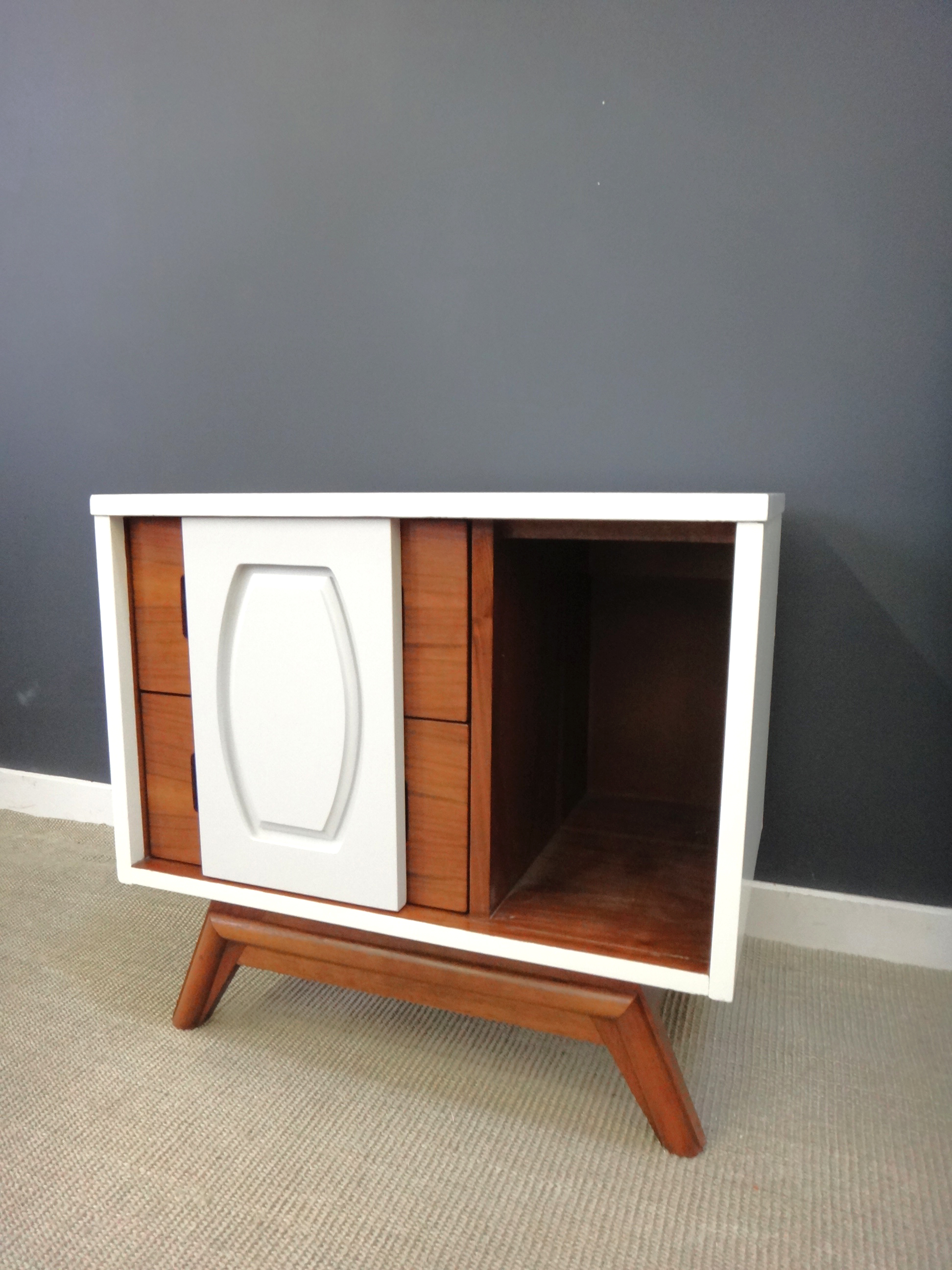Updated Mid Century Night Stand/Side Table