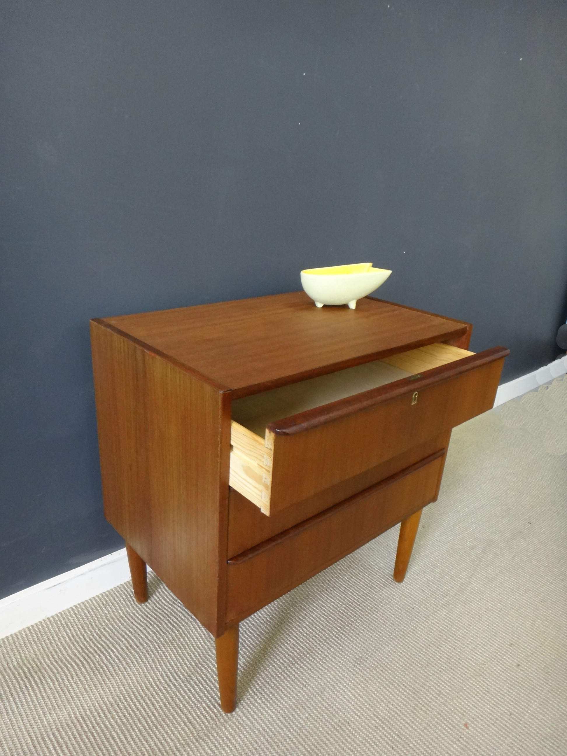 3-Drawer Petite Teak Chest