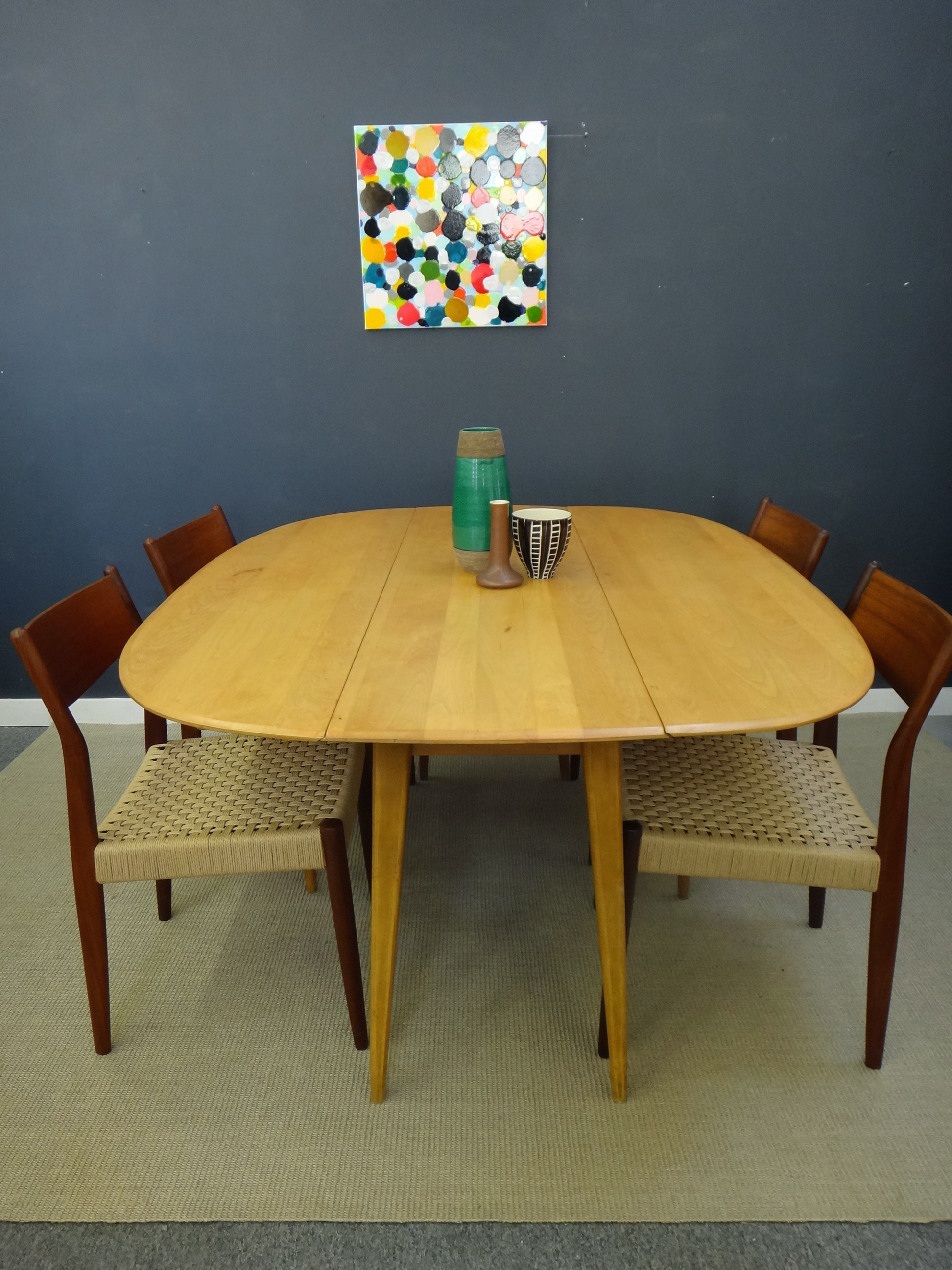 Heywood Wakefield Drop Leaf Dining Table Heywood Wakefield Drop Leaf Dining  Table ...