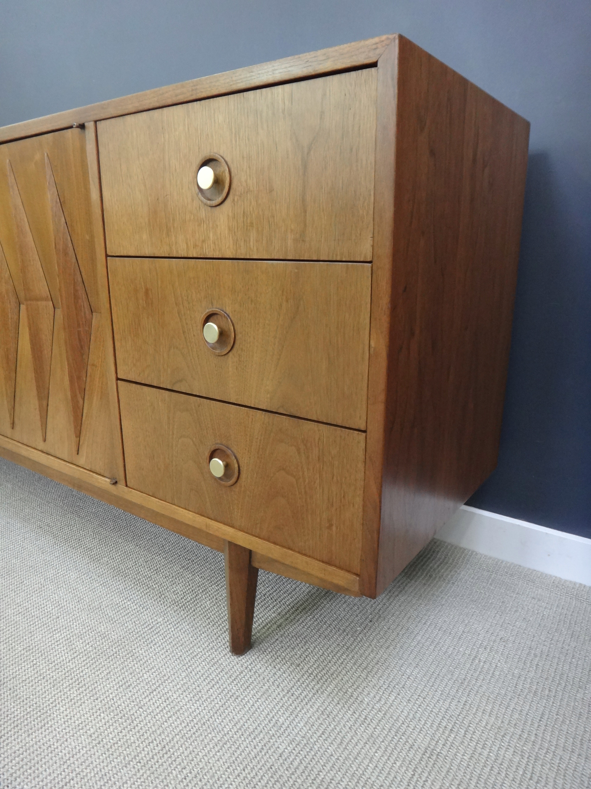 American of Martinsville Sculpted Credenza/Dresser