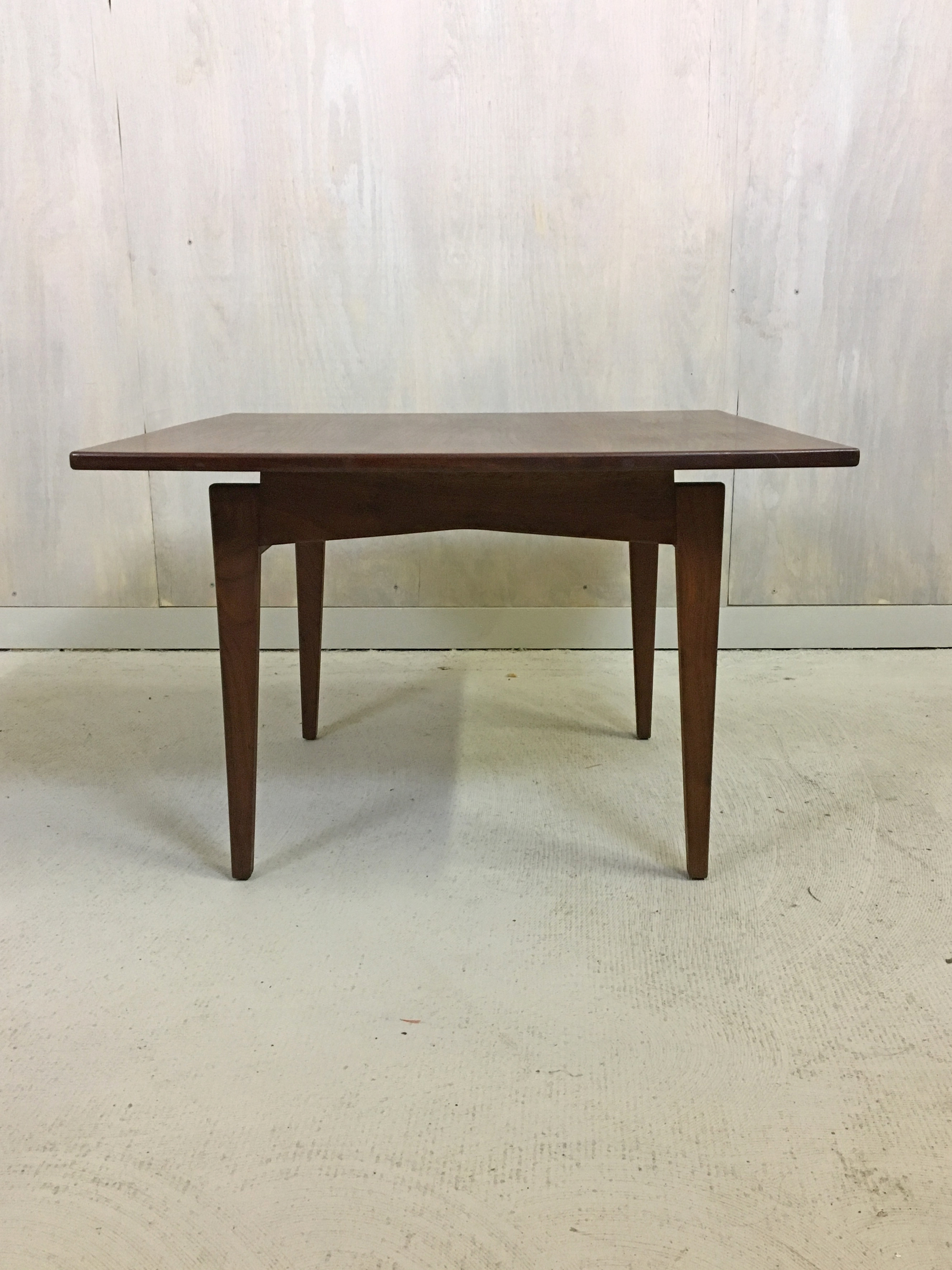 Jens Risom Walnut Coffee Table