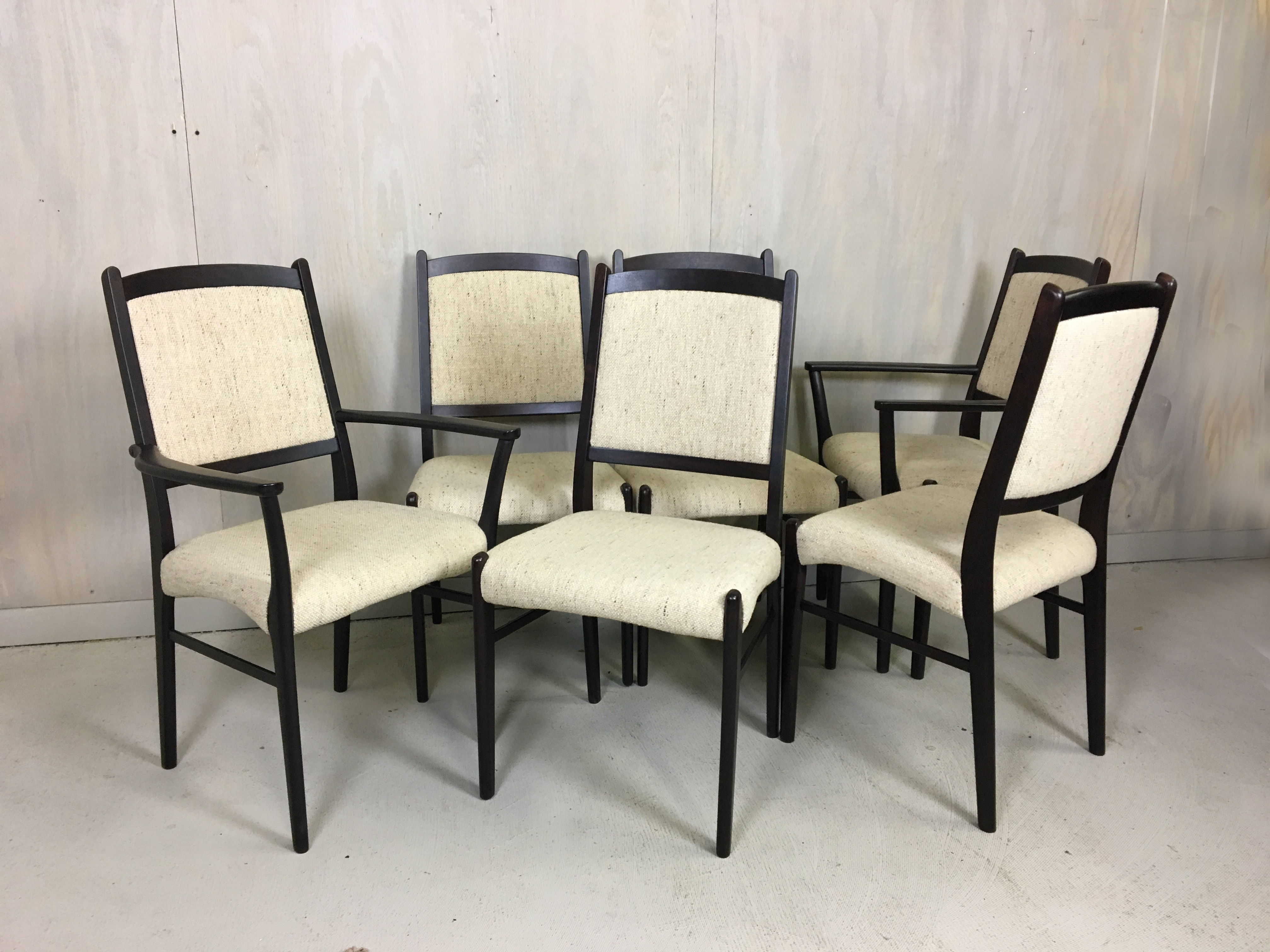 Set of Six Rosewood Dining Chairs by Dyrlund
