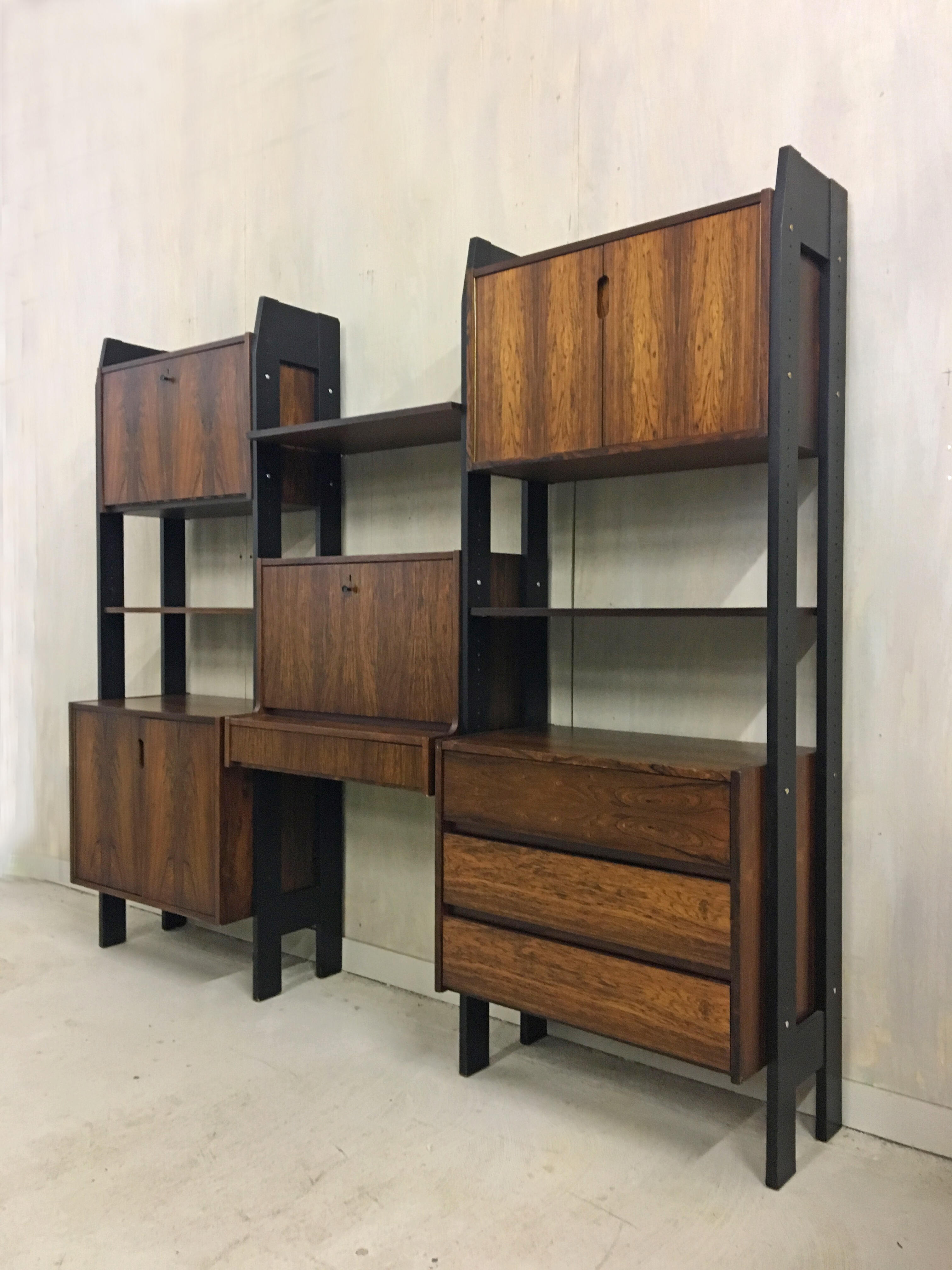 Danish Modern Rosewood Wall Unit