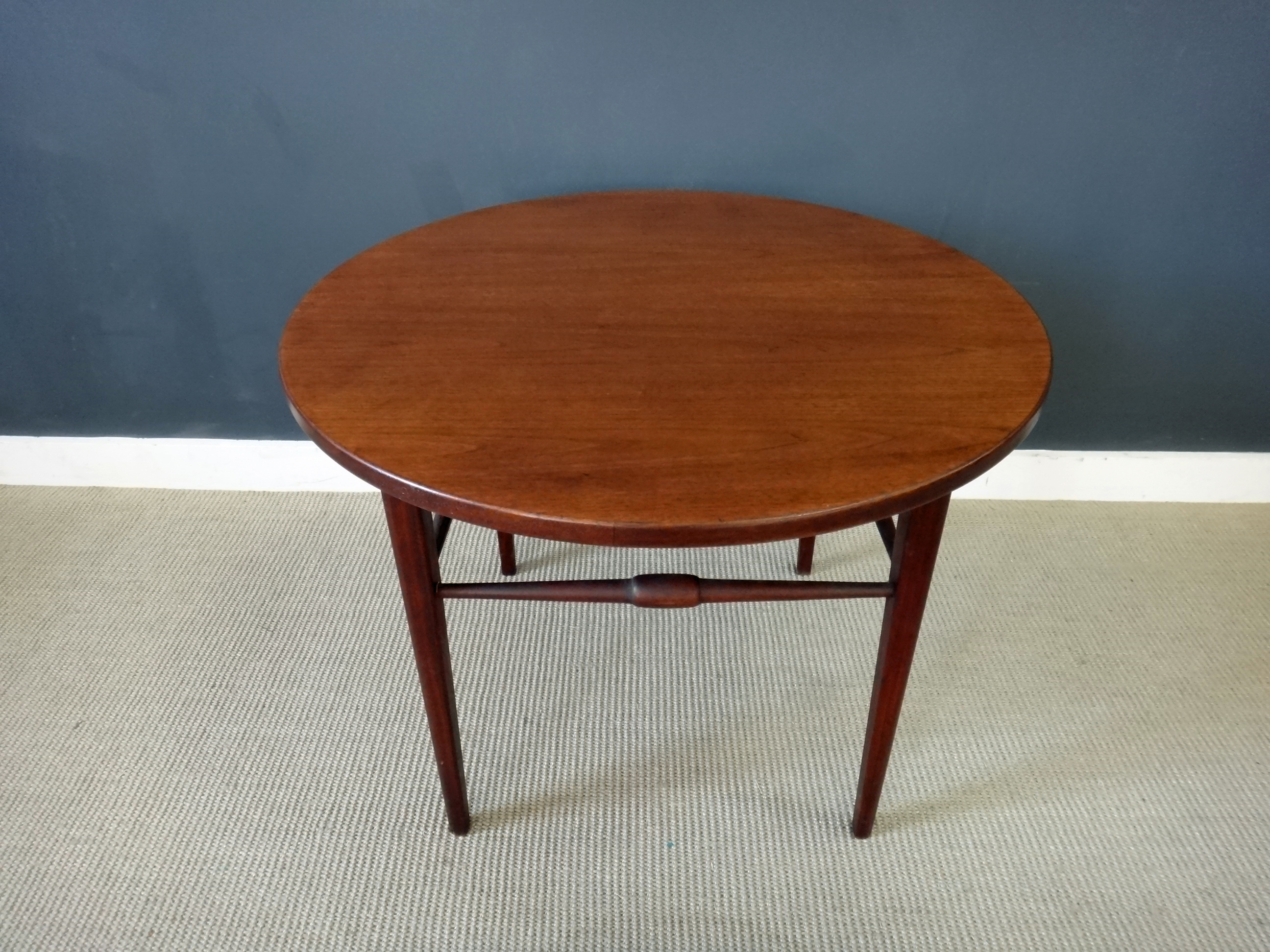 On Sale - Danish Modern Round Teak Side Table