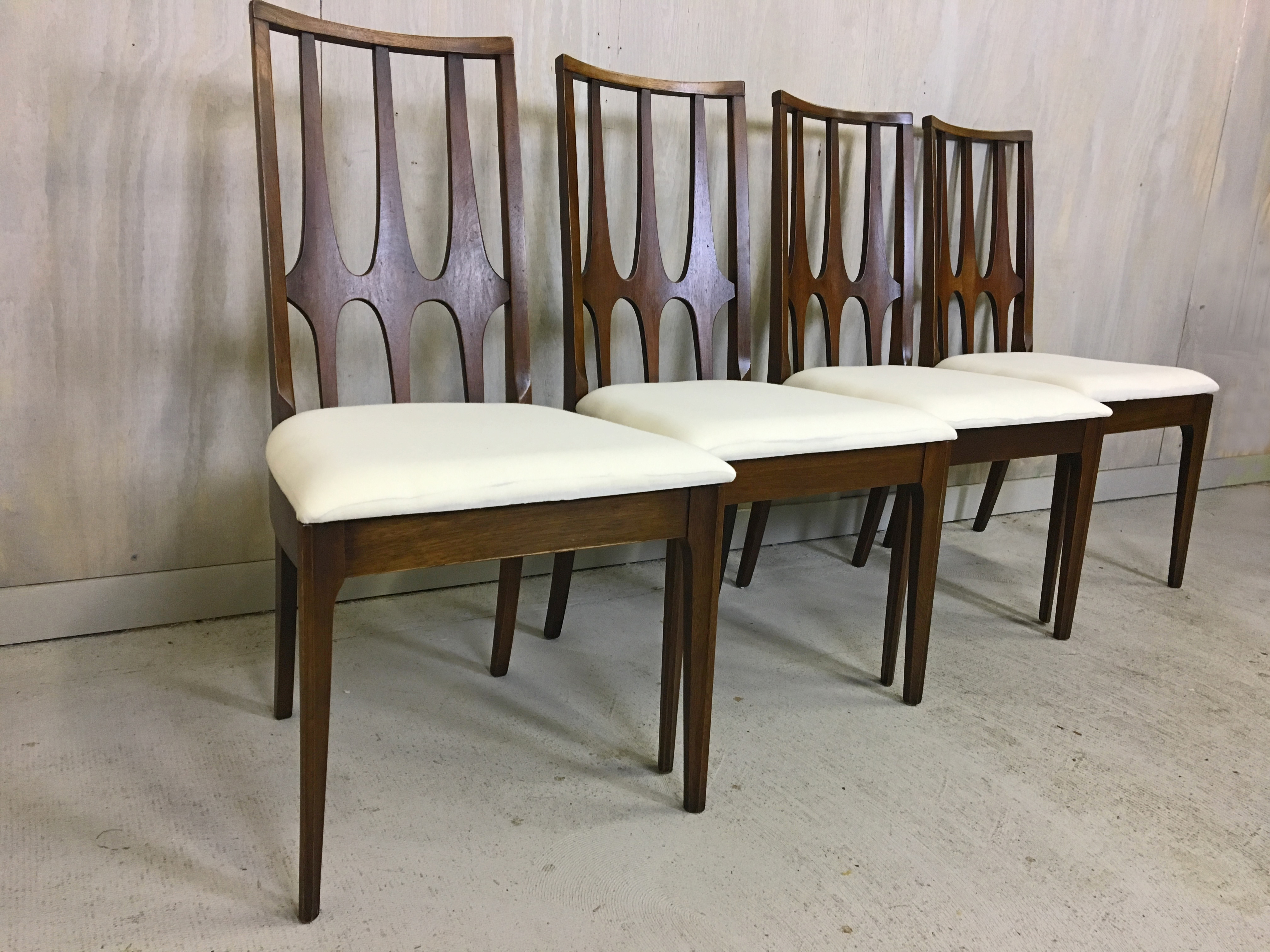 Set of Four Brasilia Walnut Dining Chairs