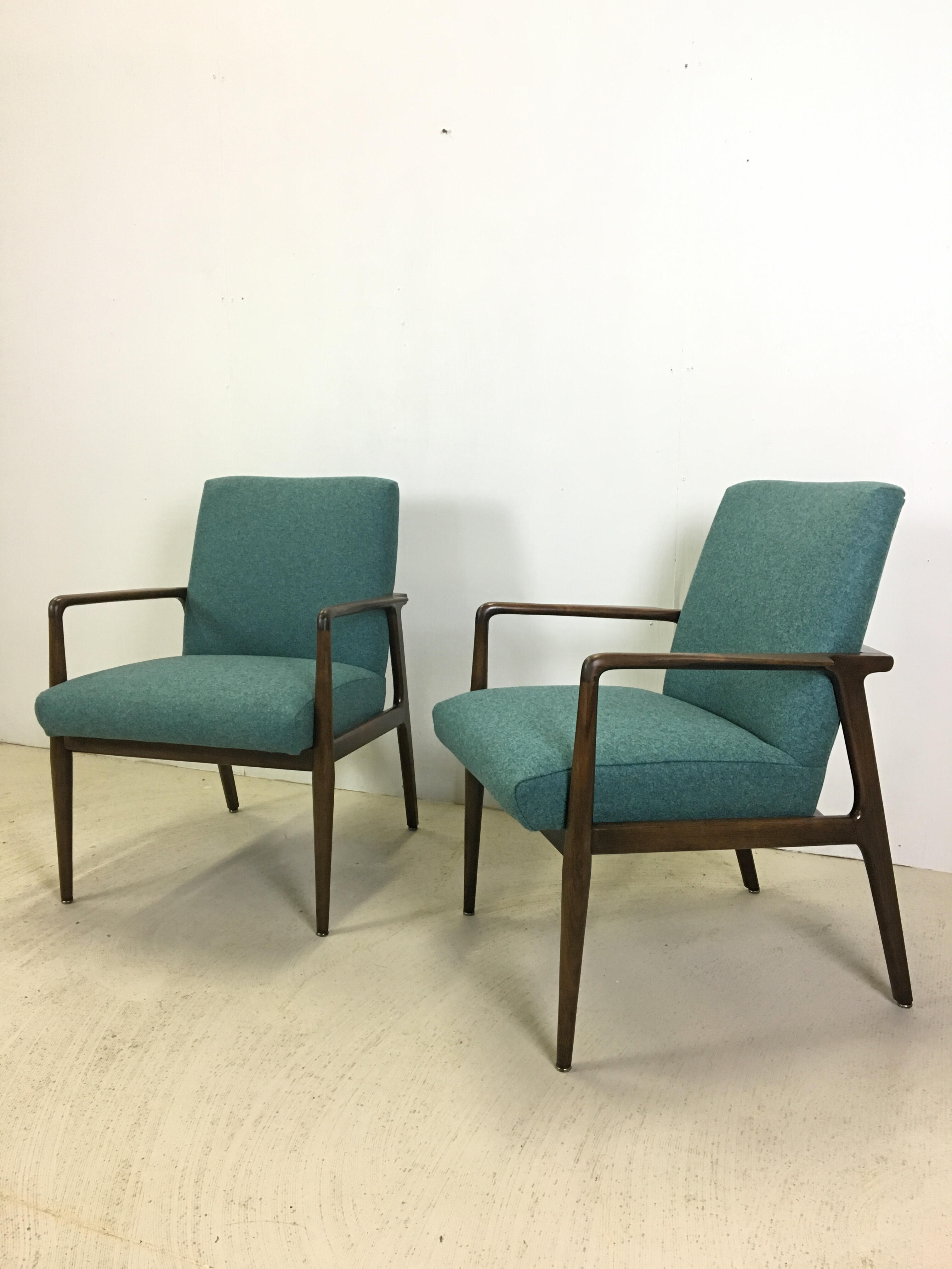 Pair of Upholstered Lounge Chairs for Stow & Davis