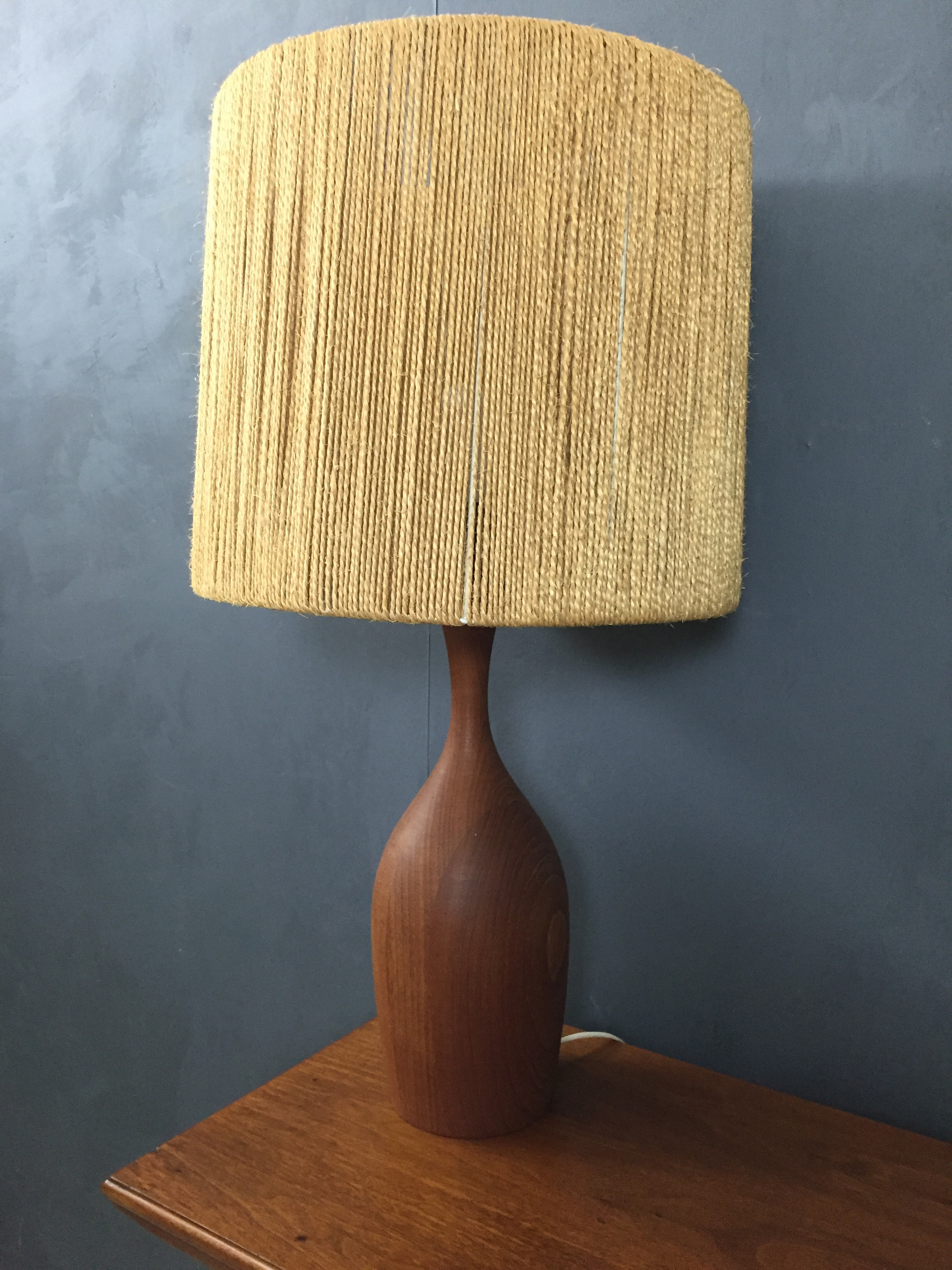 Danish Modern Teak Table Lamp