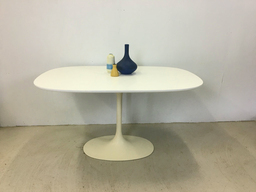 Burke Oval Tulip Table in Style of Eero Saarinen