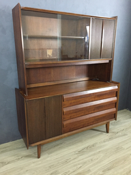 Lane Walnut CredenzaChina Cabinet