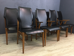SALE  Lane Bentwood Walnut High Back Dining Chairs