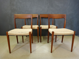 Set of Danish Cord Moller Dining Chairs