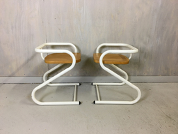SALE  Pair of Amisco Tubular Steel Chairs