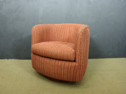 Milo Baughman Swivel Club Chair