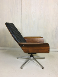 SALE  Black Vinyl Mulhauser Lounge Chair
