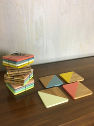 Dipped Bamboo Coasters