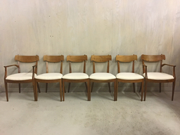 Set of Drexel Declaration Walnut Dining Chairs by Kipp Stewart