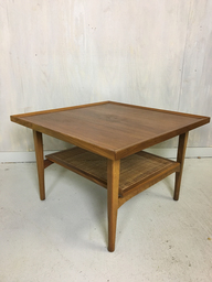 Kipp Stewart for Drexel Declaration Walnut Coffee TableSide Table