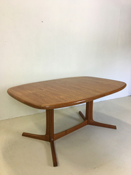 Danish Modern Teak Pedestal Dining Table for Dyrlund