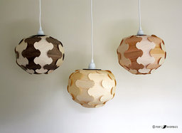 SALE  Wood Veneer Globe Lamp