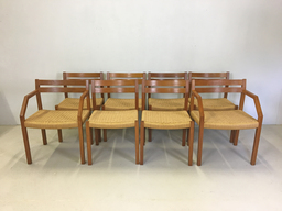 Danish Modern Teak Chairs for JL Moller