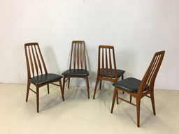 Danish Modern Teak Dining Chairs by Neils Koefoed