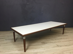 Large Mid Century Laminate and Wood Coffee Table