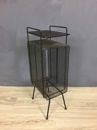 Retro Black Metal MagazineTelephone Stand