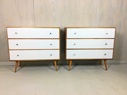 Paul McCobb Style Dressers with Painted Drawers