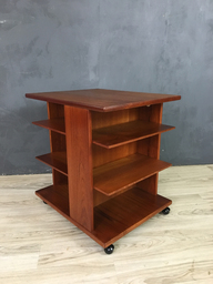 Danish Modern Teak Magazine StandSide Table by Jensen Odense