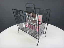 Mid Century Metal Magazine Holder