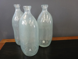 Large Pale Blue Glass Bottles