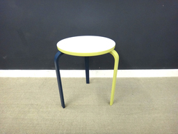Painted Mid Century 3Legged Stool