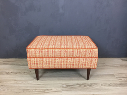 additional images for Upholstered Mid Century Ottoman