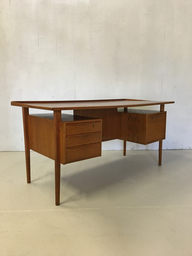 Peter Lovig Nielsen Floating Teak Desk for Dansk