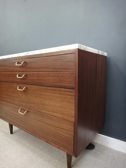 additional images for Marble Topped Mid Century Probber Bureau