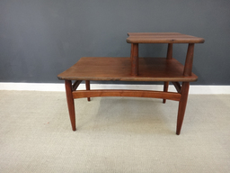 additional images for Set Mid Century Tiered Walnut Side Tables