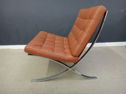 additional images for Mid Century Leather Barcelona Chair with Ottoman