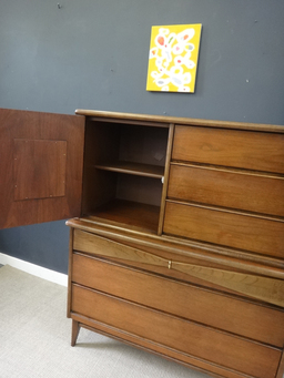 additional images for Mid Century Bassett Highboy Bureau
