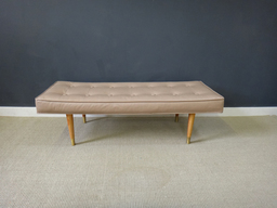 additional images for Mid Century Vinyl Upholstered Bench