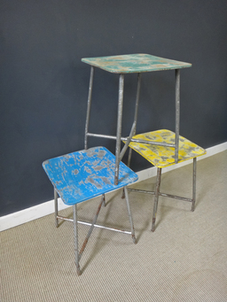 additional images for Vintage Polish Army Stools