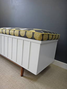 additional images for Updated Lane Cedar Chest with Upholstered Bench