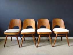 additional images for  Set of Rare Molded Plywood Back Dining Chairs