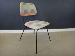 additional images for Newy Upholstered Mid Century Black Metal Dining Chairs