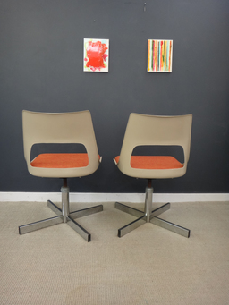 additional images for Pair of Mid Century Krueger Swivel Chairs
