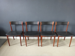 additional images for Rosengren Teak Black Leather Dining Chairs