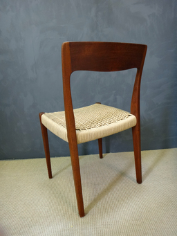 additional images for Set of Danish Cord Moller Dining Chairs