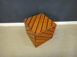 additional images for Inlaid Rosewood Cube End Table