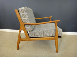 additional images for Mid Century Italian Upholstered Lounge Chair